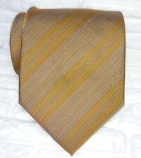 Regimental marrone cravatta 100% seta Nuova qualità TOP , Made in Italy
