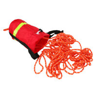 Buoyant Throw Rope 16m Reflective Rescue Line for Kayak Canoe Yacht Boat Red