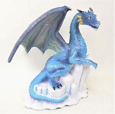 Ice Dragon on shards of Ice mythical fantasy decor