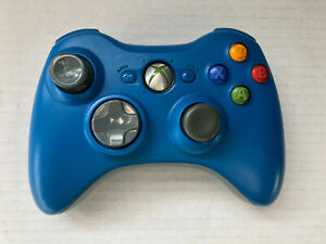 Xbox 360 Wireless Controller- Limited Blue- Tested- OEM- No Battery Cover