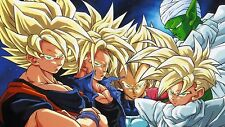 Poster 42x24 cm Dragon Ball Z Gohan Trunks Goku Vegeta Piccolo Super Saiyan 03
