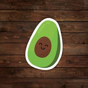 Smiling Avocado Vector Decal/Sticker