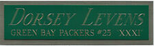 DORSEY LEVENS NAMEPLATE FOR AUTOGRAPHED SIGNED FOOTBALL-HELMET-JERSEY-PHOTO CASE