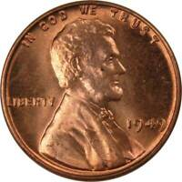 1949 1c Lincoln Wheat Cent Penny US Coin BU Uncirculated Mint State