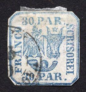 Romania 1862 stamp Mi#10Iw used CV=312$