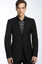 NWT Burberry London Bond Street Suit Black 38S 2 button