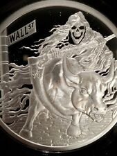 2 oz .999 Silver Shield Rate Reaper Proof end the fed grim Reaper death skull