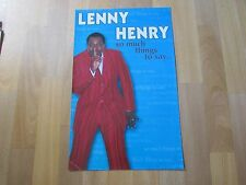 Lenny HENRY So Much to Say Original THEATRE Show Poster