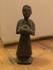 Antique Bronze Sculpture / Figure Of A Monk