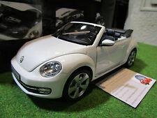 VOLKSWAGEN THE BEETLE Cabriolet de 2013 blanc au 1/18 KYOSHO 08812PW miniature