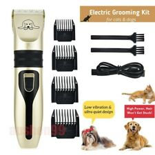 Dog Cat Pet Grooming Kit Usb Rechargeable Cordless Electric Hair Clipper Trimmer