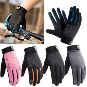 Outdoor Womens Mens Full Finger Racing Motorcycle Gloves Cycling Riding Gloves