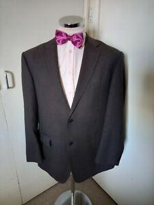 """M&S Collezione Men's Black Textured Blazer Sports Jacket Chest 42"""" Reg Wool/Silk"""