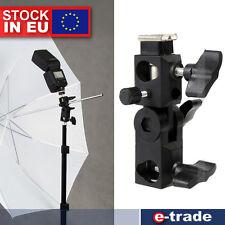 Hot Shoe Swivel Mount Photo Umbrella Holder Bracket C Flash Light Stand Adapter
