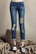 Denim Machine Washable Mid-Rise Slim, Skinny Jeans for Women
