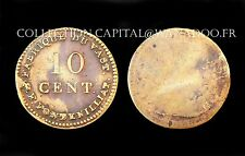 10 Centimes - Mines de Vast, P.F.Fontenilliat. Louis XVIII°. Bronze