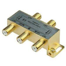 4-Way Coaxial Cable Splitter Coax TV Antenna Satellite Signal Split 5-2400MHz