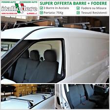 3 BARRE Portatutto + FODERE su Misura FIAT Doblò Cargo MAXI Professional 2015>