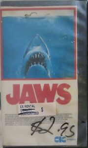Original 1975 CIC ,Universal Pictures inc JAWS VHS.