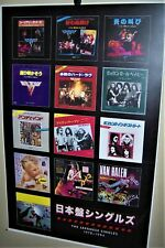 Van Halen The Japanese Singles 1978-1984 Full Color Poster David Lee Roth Eddie