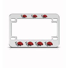 Metal Bike License Plate Frame Ladybug Lady Bug Style B Motorcycle Accessories