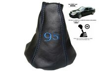 Gear Gaiter For Saab 9-5 1997-2010 Leather Blue Embroidery