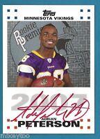 Adrian Peterson - 2007 Topps Rookie Premiere Autographs #AP - AU RC