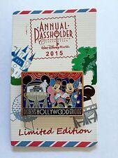 2015 Disney Annual Passholder Pin Hollywood Studios Mickey Postcard LE 2500 New