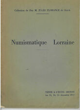 * Vente Drouot, 13-15/12/1937, Numismatique Lorraine, coll. Florange de Sierck