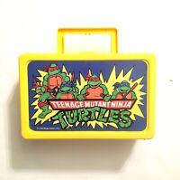 Vintage 1990 Teenage Mutant Ninja Turtles Carrying Pencil Crayon Case Lunchbox