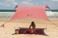 Beach Tent Sunshade Family Size with Sandbag Anchors Beach Camping Outdoors
