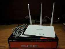 Tenda N300 F3 Wireless Wi-Fi Router, Easy Setup, Up to 300Mbps, White