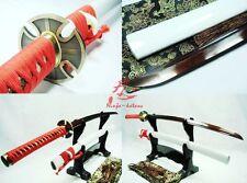 battle ready japanese samurai katana titanium adsorb folded steel blade sharp