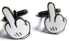 Mickey Mouse Hand MIDDLE FINGER Disney Disneyland Fantasy Cufflinks Cuff Links