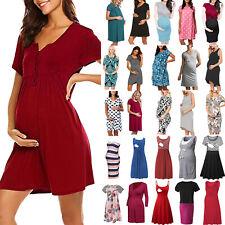 Pregnant Women Maternity Dress Summer Casual Nursing Breastfeeding Daily Dresses