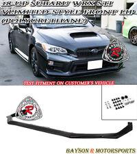 V-Limited Style Front Lip (Urethane) Fits 18-19 Subaru WRX STi