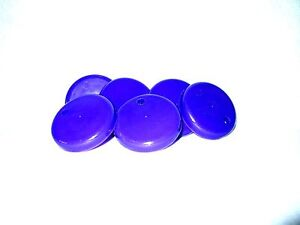 6 PURPLE LIDS FOR SIPPER CUP- LIDS FOR OUR SIPPPY CUPS - MFG USA LEAD FREE