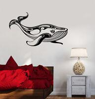 Vinyl Wall Decal Whale Marine Animals Ocean Room Art Stickers Mural (ig3567)