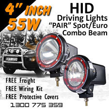 HID Xenon Driving Lights - Pair 4 Inch 55w Spot/Euro Combo Beam 4x4 4wd Off Road