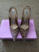 Satryani Brown And Camel Pointed Toe Wedge Heels Size 8