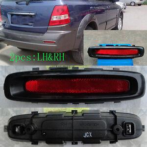 2Pcs For Kia Sorento 2004-08 CAR Rear Bumper LH&RH Fog Lamp Reflector Lights DEC