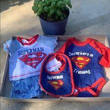 Baby Boy Superman set - NB /3 months, blue & red