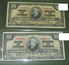 TWO 1937 BC27b VF $100