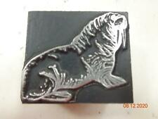 Printing Letterpress Printer Block Decorative Walrus Print Cut