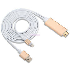 2M For Apple Connect to HDMI TV AV Cable Adapter iPhone 5 5S 6 6S iPad UK tm
