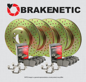 [F&R] BRAKENETIC SPORT DRILLED Brake Rotors + POSI QUIET Pads X5M X6M BSK94711
