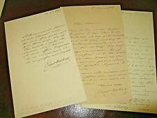 ERNEST BRETON 3 X Autographe Signé 1862 PEINTRE ARCHEOLOGUE POMPEÏ à PAGNERRE