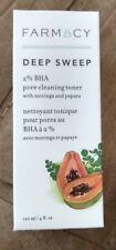 New In Box Farmacy Pore Cleaning Toner Deep Sweep 4 Oz Nib Free Shipping