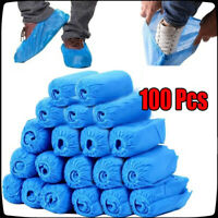 100PCS Disposable Shoes Covers with Elastic Band Breathable Dust-proof Covers