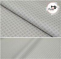 Grey Premium 100% Cotton Printed Fabric 135 Cm High Quality